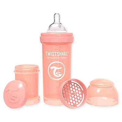 Twistshake™ Plastic Wide-Neck Anti-Colic Baby Bottle in Pastel Peach