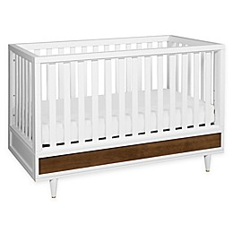 Babyletto Eero 4-In-1 Crib in White/Walnut