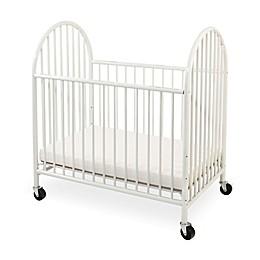 LA Baby® Arched Metal Portable Crib in White