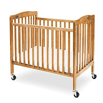 LA Baby® Pocket Crib Mini Portable Folding Crib in Natural