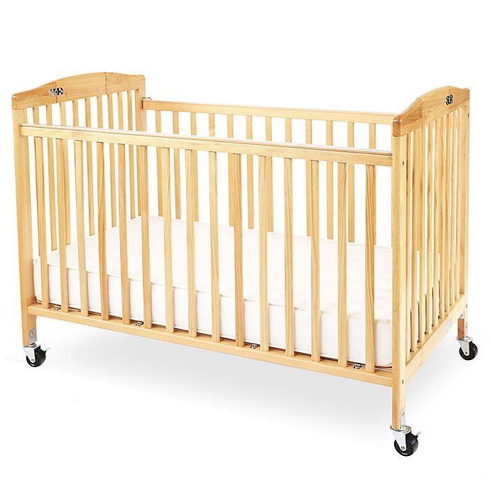 Alternate image 1 for LA Baby® Pocket Crib Portable Folding Crib in Natural