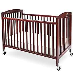 LA Baby® Pocket Crib Portable Folding Crib in Cherry