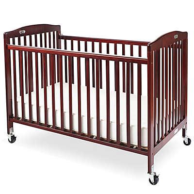 LA Baby® Pocket Crib Portable Folding Crib in Cherry