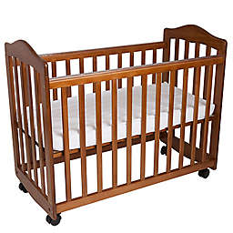 LA Baby® The Original Bedside Manor Mini Crib in Pecan