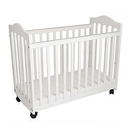 LA Baby® The Original Bedside Manor Mini Crib in White