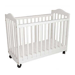 LA Baby® The Original Bedside Manor Mini Crib in White
