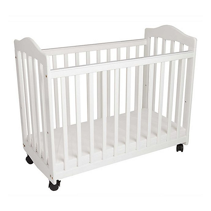 Alternate image 1 for LA Baby® The Original Bedside Manor Mini Crib in White