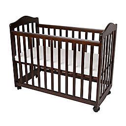 LA Baby® The Original Bedside Manor Mini Crib in Cherry