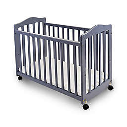 LA Baby® The Original Bedside Manor Convertible Crib in Grey