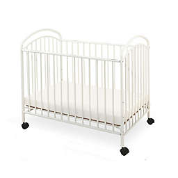 LA Baby® Classic Arched Mini Crib in Vanilla