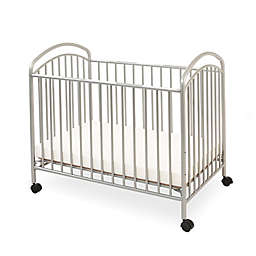 LA Baby® Classic Arched Mini Crib in Pewter