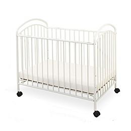 LA Baby® Classic Arched Mini Crib in White