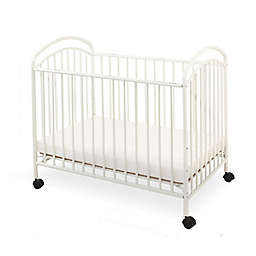 LA Baby® Classic Arched Mini Crib in White