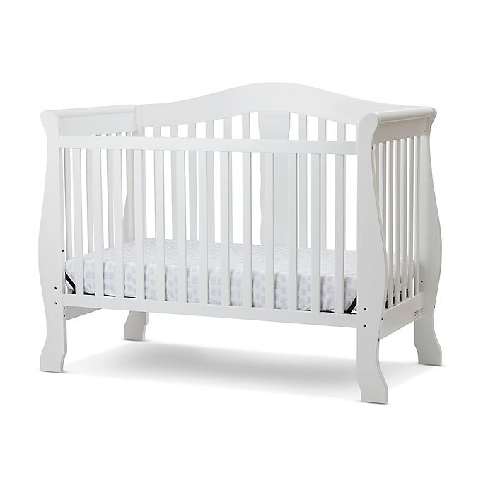 Alternate image 1 for LA Baby® Avalon 4-in-1 Convertible Crib in White
