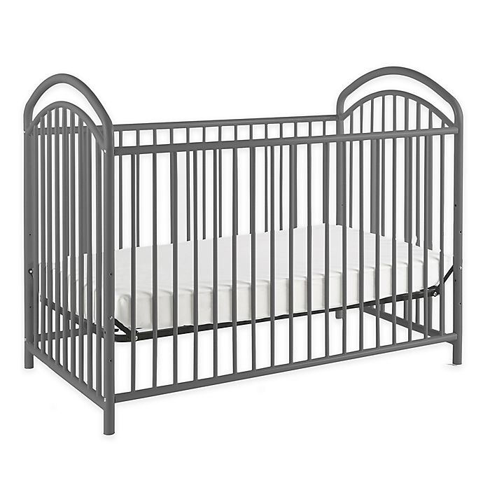 Alternate image 1 for LA Baby® Mariposa 3-in-1 Convertible Crib in Pewter