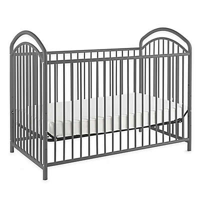 LA Baby® Mariposa 3-in-1 Convertible Crib in Pewter