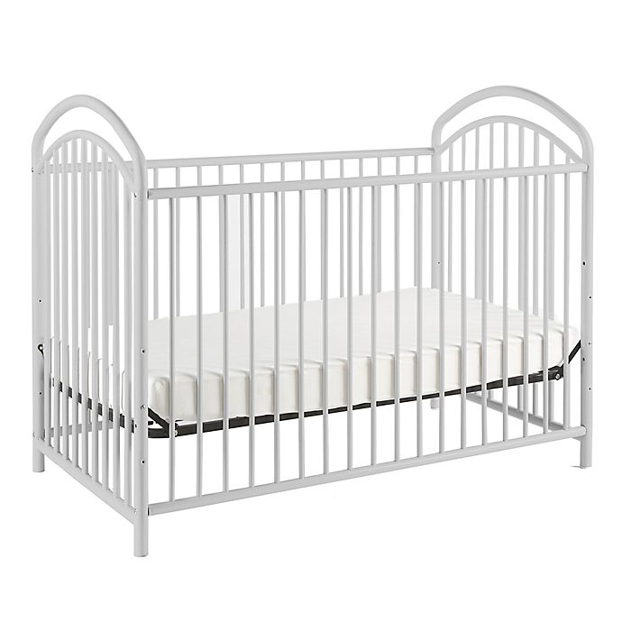 Alternate image 1 for LA Baby® Mariposa 3-in-1 Convertible Crib in White