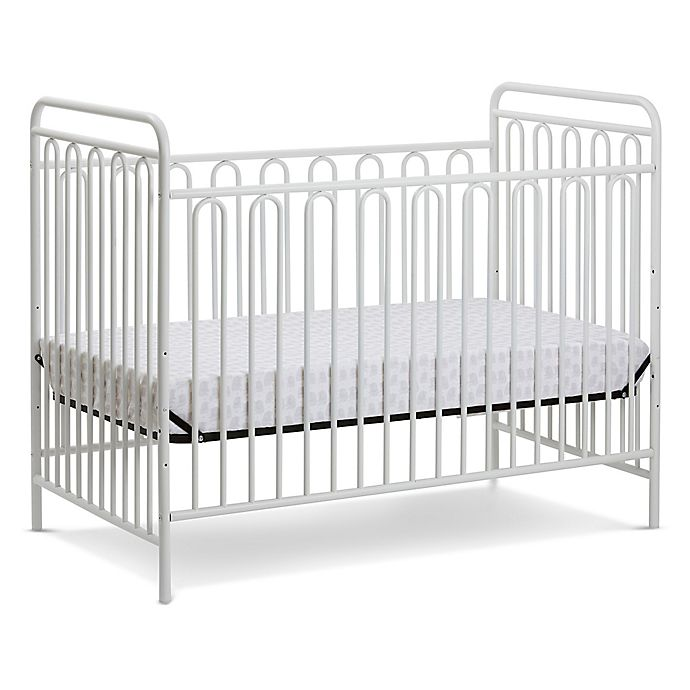Alternate image 1 for LA Baby® Trinity 3-in-1 Convertible Crib in Alabaster