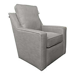 The 1st Chair™ Ellis Swivel Glider Chair in Pebble
