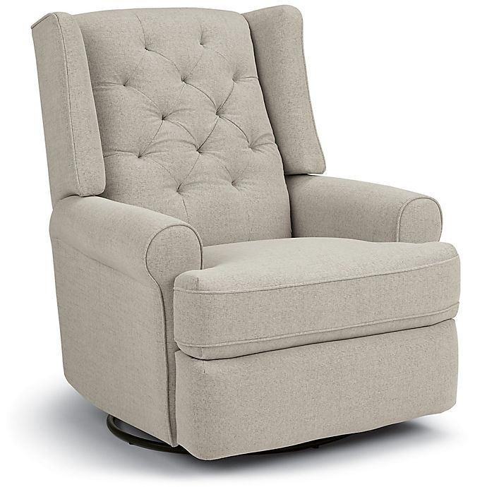 Alternate image 1 for Best Chairs Storytime Series Finley Swivel Glider Recliner in Stone
