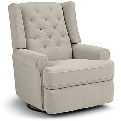 Storytime Series Finley Swivel Glider Recliner in Stone