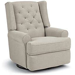 Best Chairs Storytime Series Finley Swivel Glider Recliner in Stone