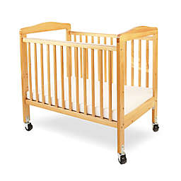 LA Baby® Mini Portable Crib with Clear Panels in Natural