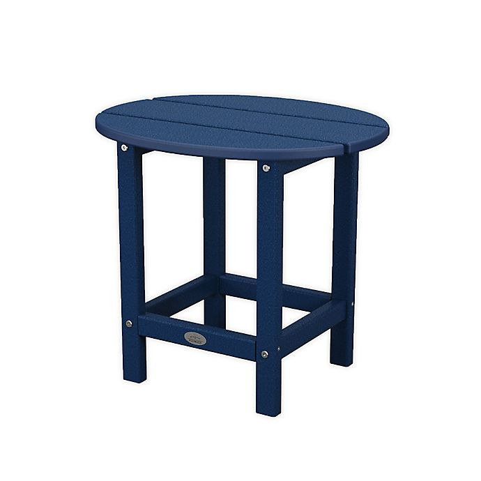 Alternate image 1 for Bee & Willow™ by POLYWOOD 18-Inch Round Side Table in Navy