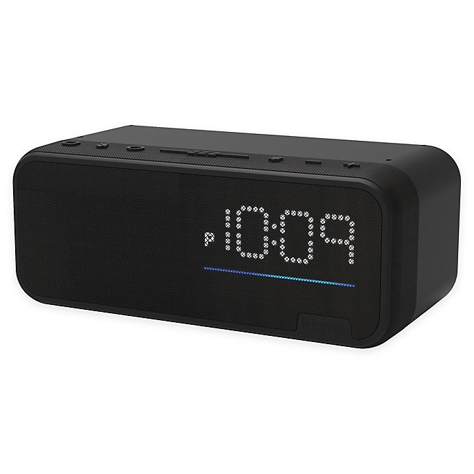 Alternate image 1 for iHome iAV14 Bedside Clock with Alexa Built-In Voice Control