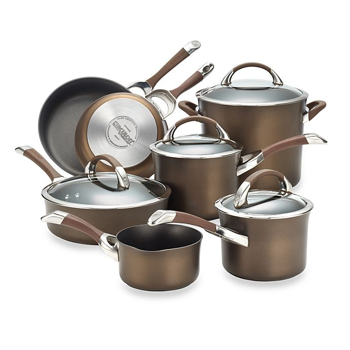 Alternate image 1 for Circulon® Symmetry™ Hard Anodized Nonstick 11-Piece Cookware Set in Chocolate