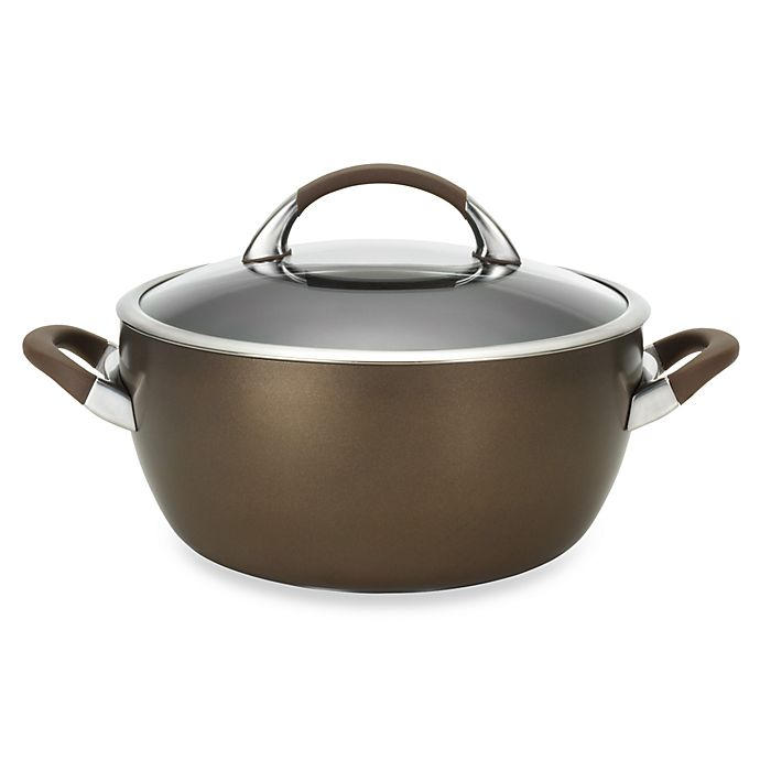 Alternate image 1 for Circulon® Symmetry™ Hard Anodized Nonstick 5.5 qt. Covered Casserole in Chocolate