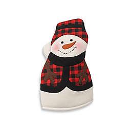 snowman oven mitt