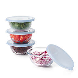 OXO Good Grips® 8-Piece Clear Glass Mixing Bowl with Lids Set