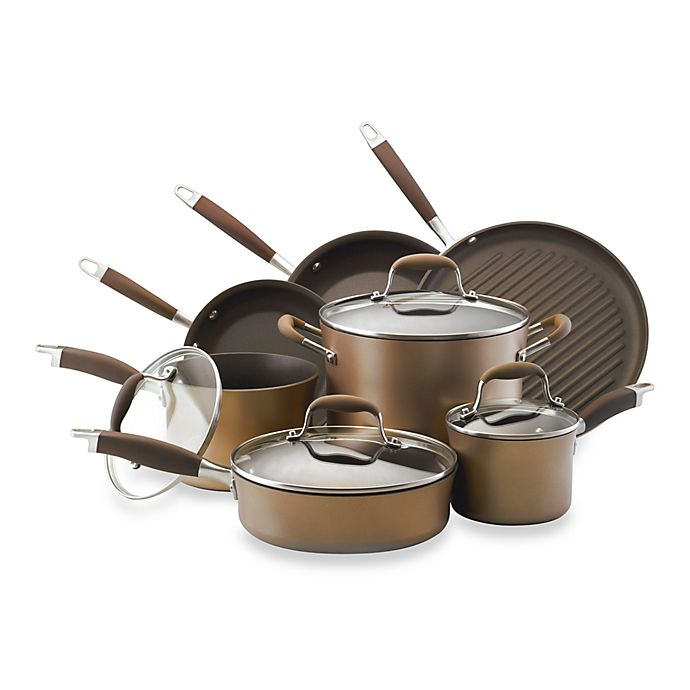 Alternate image 1 for Anolon® Advanced Bronze 11-Piece Cookware Set and Open Stock