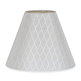 Small 9-Inch Diamond Bell Lamp Shade in White