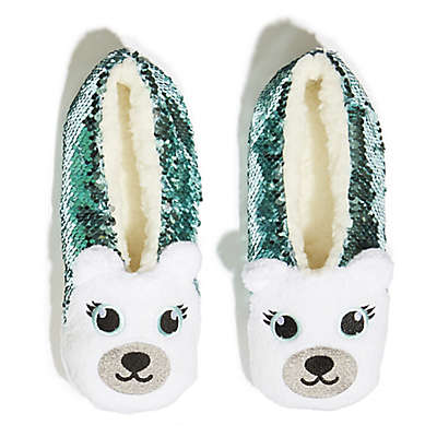 Capelli New York Women's Sequin Critter Sherpa Slippers