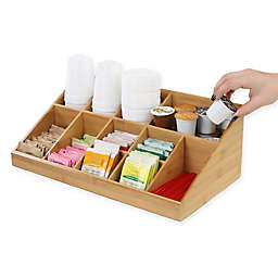 Mind Reader Coffee Condiment Organizer In Brown