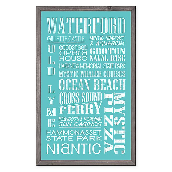 Alternate image 1 for Waterford Region Vintage Print 15-Inch x 24-Inch Wood Wall Art
