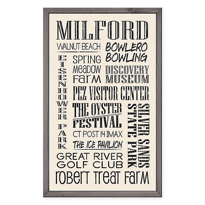Alternate image 1 for Milford 15-Inch x 24-Inch Wood Sign