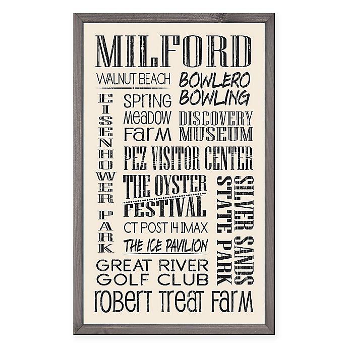 Alternate image 1 for Milford Region Vintage Print 15-Inch x 24-Inch Wood Wall Art