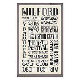 Milford 15-Inch x 24-Inch Wood Sign