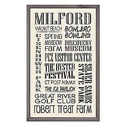 Milford Region Vintage Print 15-Inch x 24-Inch Wood Wall Art