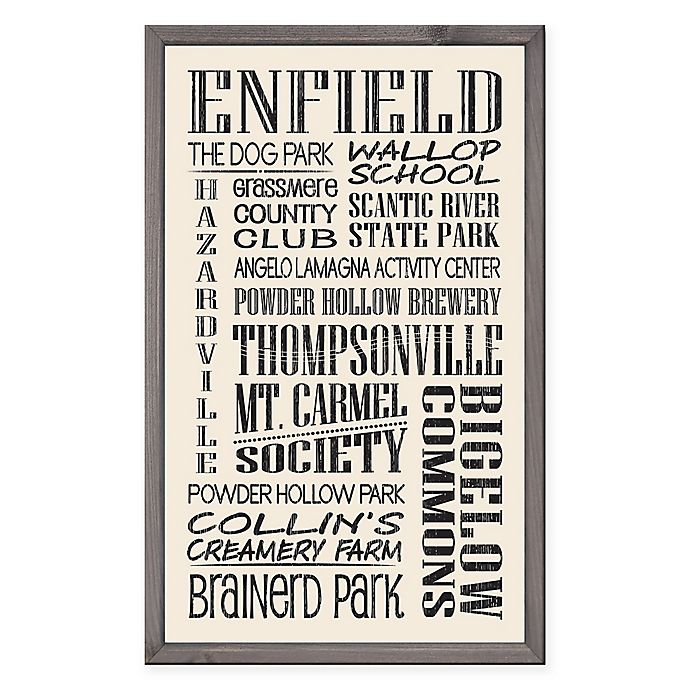 Alternate image 1 for Enfield Region Vintage Print 15-Inch x 24-Inch Wood Wall Art