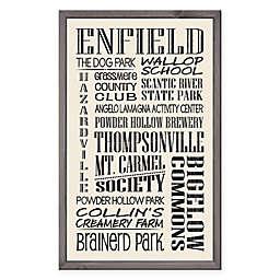 Enfield Region Vintage Print 15-Inch x 24-Inch Wood Wall Art