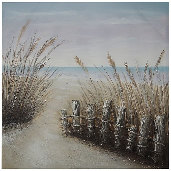 Alternate image 1 for Coastal Scene 40-Inch x 40-Inch Handpainted Canvas Wall Art