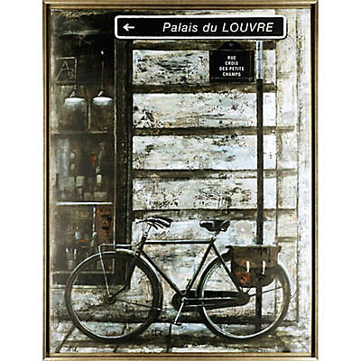 "ArtMaison Canada ""The Bicycle III"" Framed Canvas Wall Art"