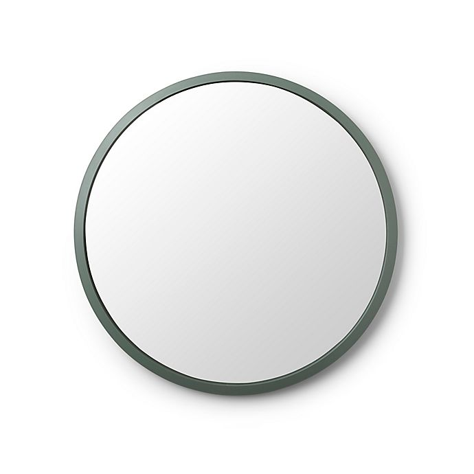Alternate image 1 for Umbra® Hub 24-Inch Round Wall Mirror in Spruce