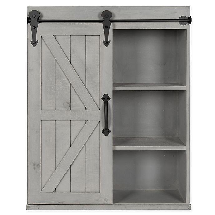 Kate And Laurel Storage Cabinet With Sliding Barn Door Bed Bath Beyond