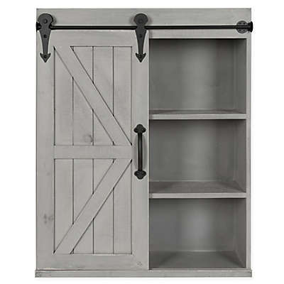 Kate And Laurel Storage Cabinet With Sliding Barn Door