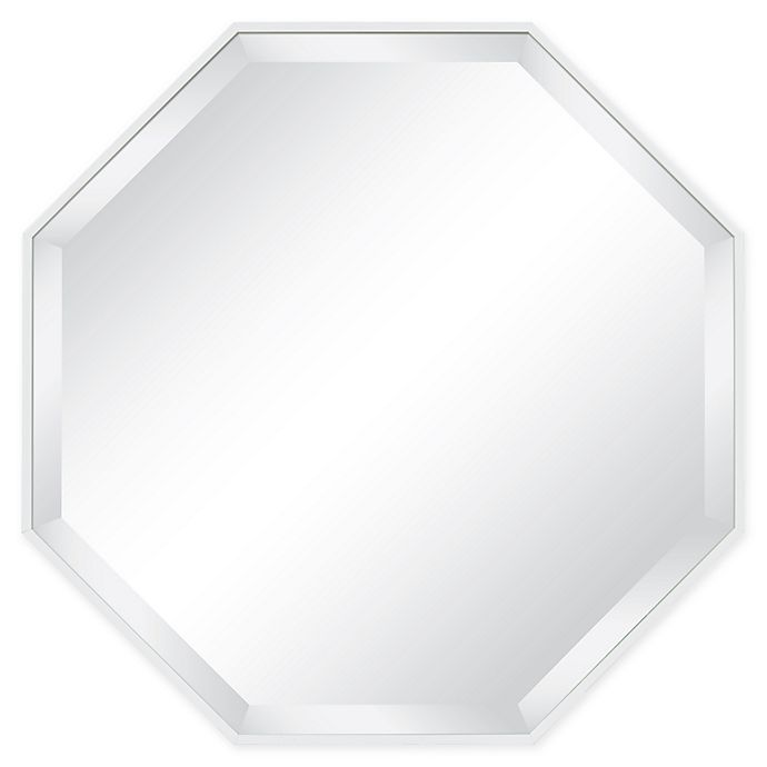 Alternate image 1 for Kate and Laurel Rhodes Octagon 25-Inch Wall Mirror in White
